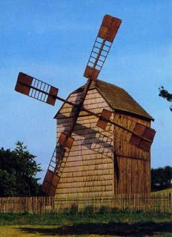Internetová stránka větrného mlýna u Velkých Těšan